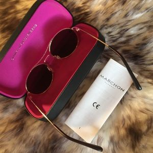 NWT DVF  Round Metal Sunglasses With Curved